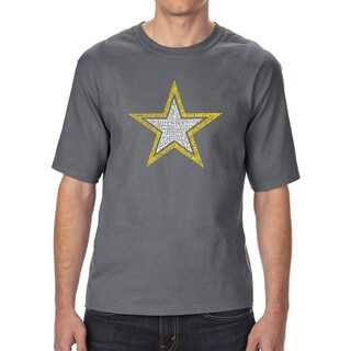 LA Pop Art Men's Tall Word Art T-shirt - LYRICS TO THE ARMY SONG