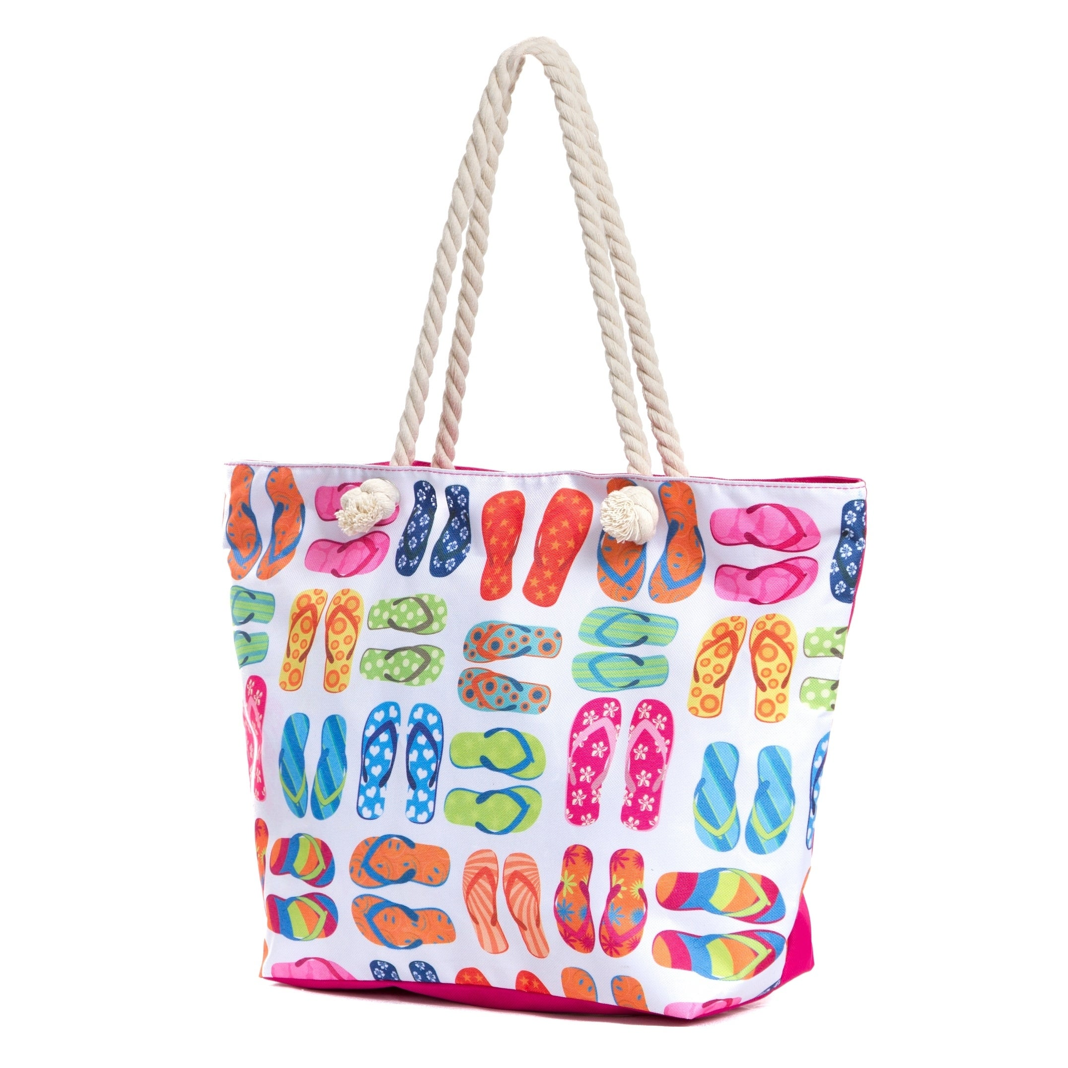 efb39a82d7ea3c Shop Large Beach Tote Bag with Zipper, Water Resistant Canvas Beach Bag -  Free Shipping On Orders Over $45 - Overstock - 21135661