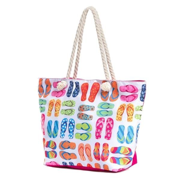 Shop Large Beach Tote Bag with Zipper 9b6191a104e3e
