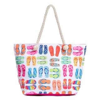 Link to Large Beach Tote Bag with Zipper, Water Resistant Canvas Beach Bag Similar Items in Shop By Style
