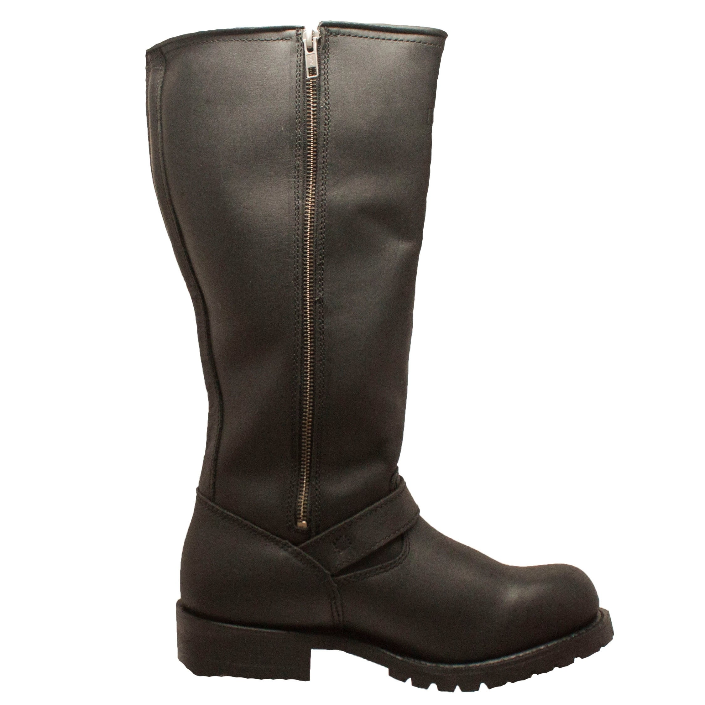 Men/'s Harness Boots Motorcycle Biker Full Grain Leather Engineer Riding Sizes