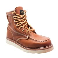 "Men's 6"" Moc Toe Work Boot Brown"