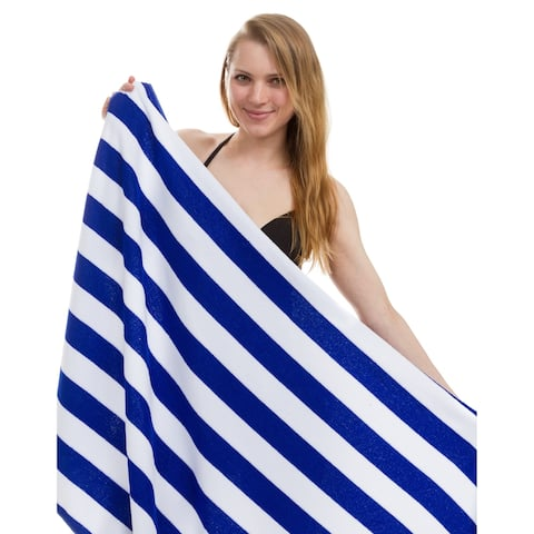 Cabana Stripe Beach Towel, Pool Towel 30 inch x 60 inch