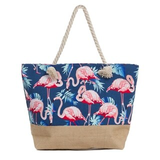 Large Beach Tote Bag, Water Resistant Canvas Bag