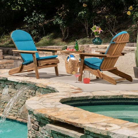Malibu Outdoor Water-Resistant Adirondack Chair Cushions (Set of 2) by Christopher Knight Home