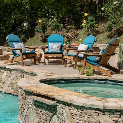 Malibu Outdoor Adirondack Chair Cushion (Set of 4) by Christopher Knight Home