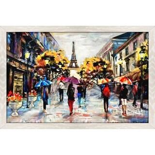 """Paris Streets"" Framed Acrylic Wall Art"