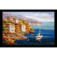 """Colorful Sea"" Framed Acrylic Wall Art"