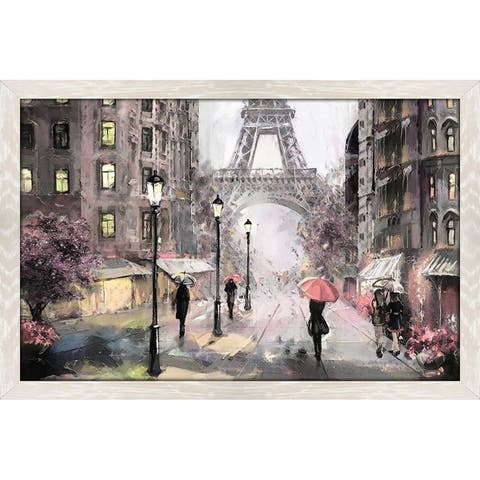 """Paris Streets II"" Framed Acrylic Wall Art"
