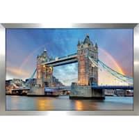 """London's Tower Bridge"" Framed Acrylic Wall Art"