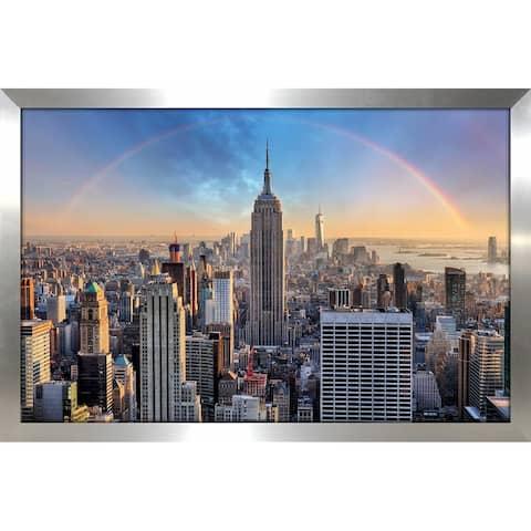 """NYC Rainbow"" Framed Acrylic Wall Art"