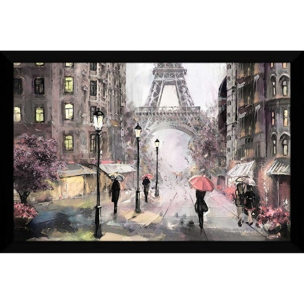 Shop Quot Paris Streets Ii Quot Framed Acrylic Wall Art On Sale