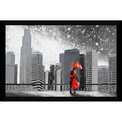 """Winter Romance"" Framed Acrylic Wall Art"