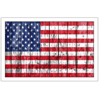 """Pledge Allegiance, USA"" Framed Acrylic Wall Art"