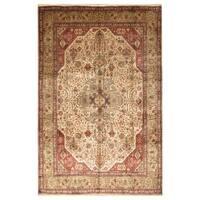 Handmade Herat Oriental Persian Hand-knotted Tabriz Wool Rug (8' x 11'4)