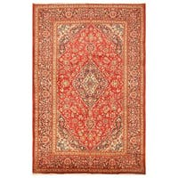 Handmade Herat Oriental Persian Hand-knotted Kashan Wool Rug - 8'1 x 12' (Iran)