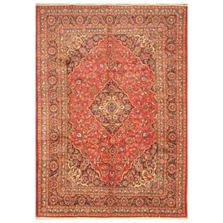 Handmade Herat Oriental Persian Hand-knotted Mashad Wool Rug - 8' x 11'1 (Iran)