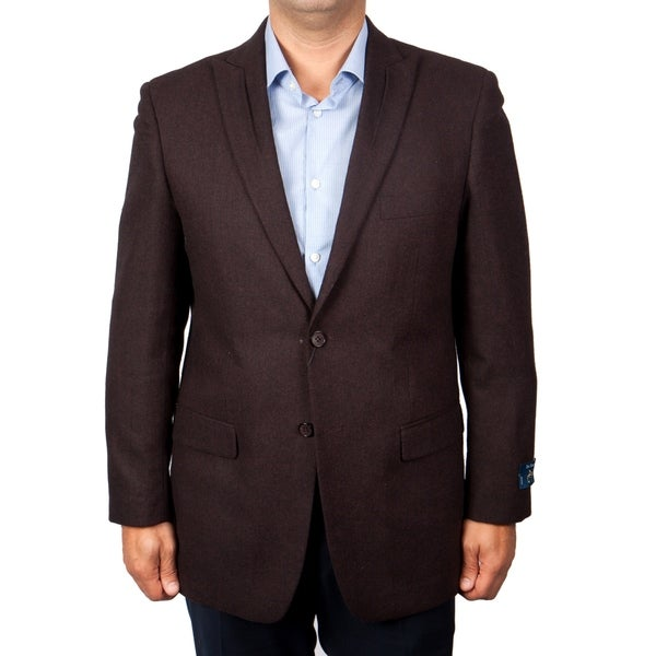 Mens Blazer Slim Fit Solid Sports Coat Blazer Jacket featuring Notch Lapel