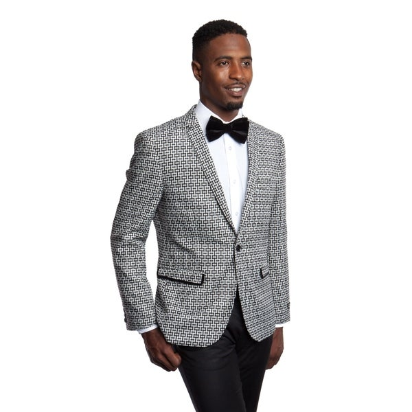 Mens Blazer Slim Fit Pattern Sports Coat Blazer Jacket featuring Notch Lapel