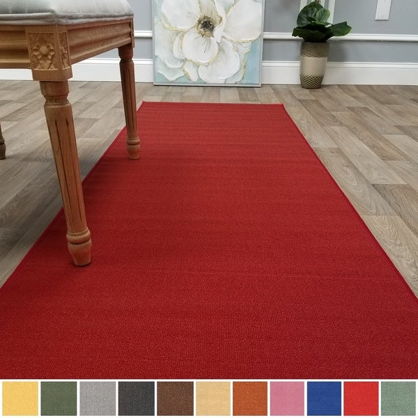 Shop Kapaqua Solid Colored Non Slip Runner Rug Rubber