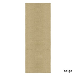 """Kapaqua Solid Colored Non-Slip Runner Rug Rubber Backed 2x8 - 1'10"""" x 8'"""