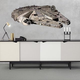 "Space Ship Star Wars Full Color Wall Decal Sticker K-1014 FRST Size 40""x63"""