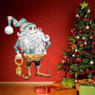 """Christmas Elf Holidays Full Color Wall Decal Sticker K-1011 FRST Size 46""""x56"""""""
