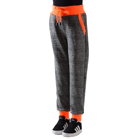 Girl's Jogger Pants Bonded Fabric extra Stretch and Softens