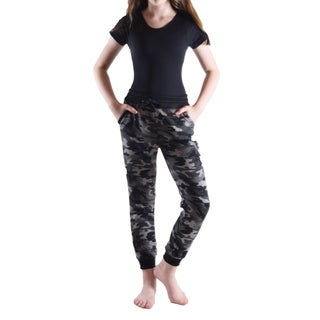 Girls Heather French Terry w Bright Color Waistband Jogger Pants