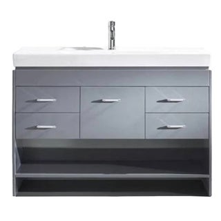 "Totti Gloria 48"" Grey Bathroom Vanity with Sink"