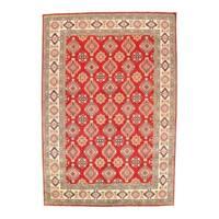 """Pasargad NY Kazak Design Lamb's Wool Rug - 12'1"""" x 8'4"""""""
