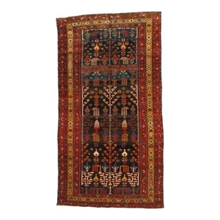 Pasargad NY Handmade Antique Persian Bakhtiari Multicolor Wool Area Rug