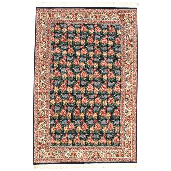 Pasargad NY Pak Tabriz Black Wool Handmade Area Rug