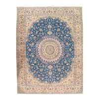 Pasargad NY Persian Nain Multicolored Silk Wool Rug - 10'2 x 13'3