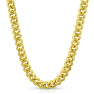 10k Yellow Gold 5mm Solid Miami Cuban Curb Link Thick Necklace Chain 20 30