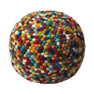 Offex Felicity Multicolor Round Pouffe