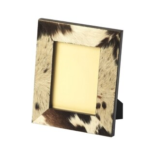 Offex San Angelo Hair On Hide Rectangular Picture Frame - MultiColor