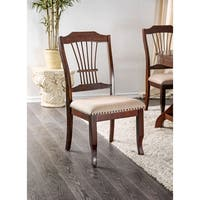 Furniture of America Piper Traditional Spindled Dining Chair (Set of 2) - N/A