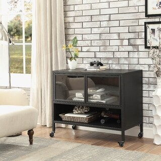 Furniture of America Niota Industrial Style Metal Grate TV Stand