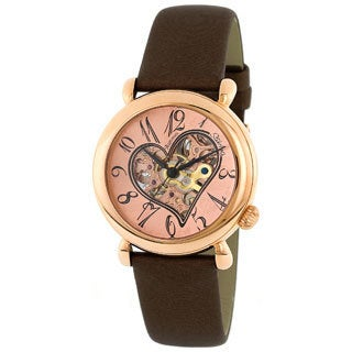 Stuhrling Original Women's Cupid II Rose Gold Open Heart Watch