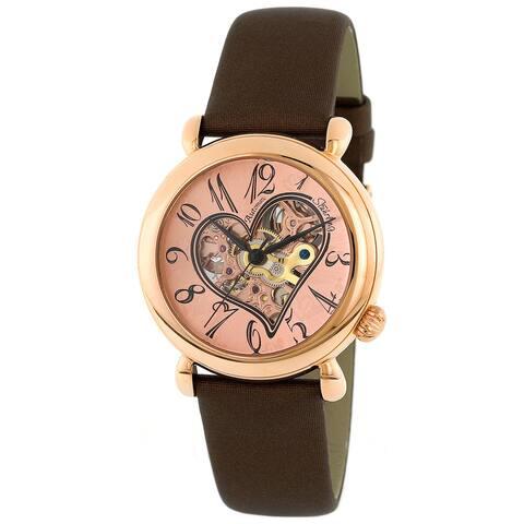 Stuhrling Original Women's Cupid II Rose Gold Open Heart Watch