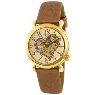 Stuhrling Original Women's Cupid II Gold Open Heart Watch|https://ak1.ostkcdn.com/images/products/2114315/Stuhrling-Original-Womens-Cupid-II-Gold-Open-Heart-Watch-P10395681.jpg?impolicy=medium
