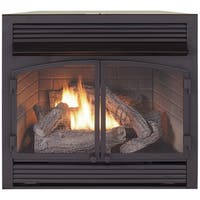 Duluth Forge Dual Fuel Ventless Fireplace Insert - 32,000 BTU, Remote Control, FDF400RT-ZC