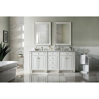 "Bristol 72"" Double Vanity, Cottage White"