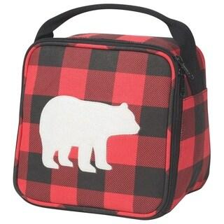 Now Designs Let's Do Lunch Bag, Buffalo Check Bear
