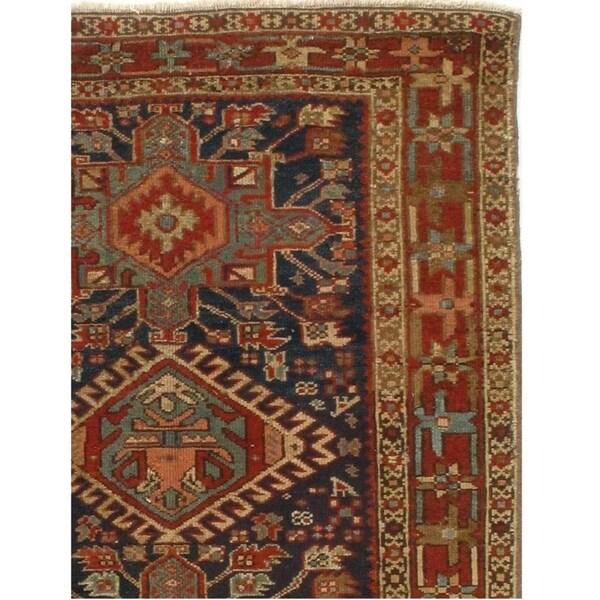 Pasargad NY Red/Multicolor Wool Handmade Antique Persian Serapi Area Rug