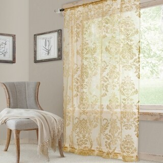 Elrene Valentina Sheer Rod Pocket Curtain Panel