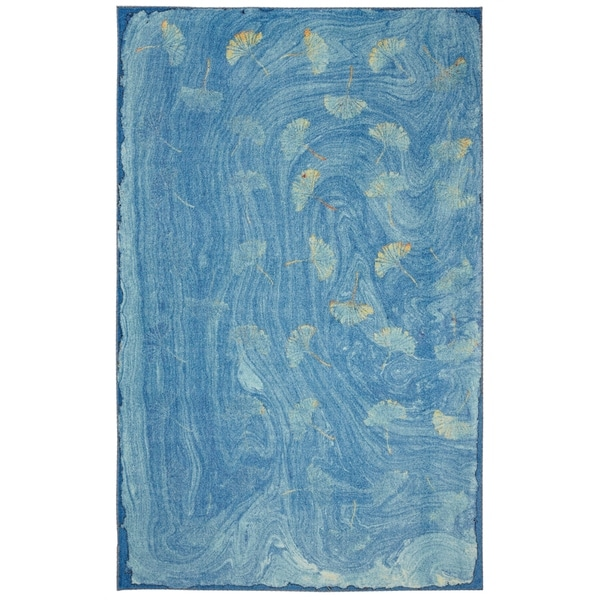 Shop Mohawk Home Prismatic Daydream Blue Gold Teal Area Rug 8 X