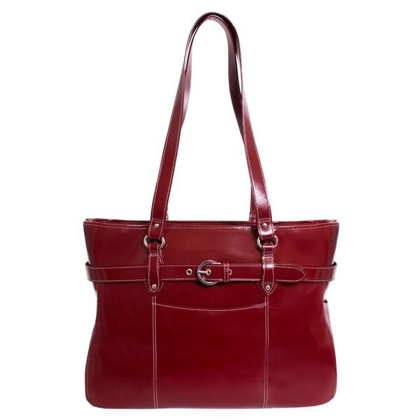 Shop McKlein USA Serra 15.6 Leather Ladies Laptop Briefcase - Free ... 2b4a568e49