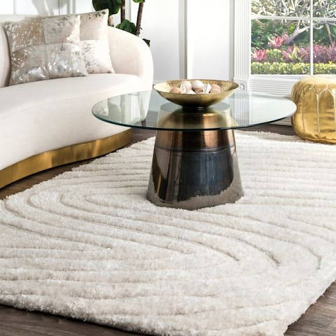 nuLOOM Handmade Cozy Soft Contemporary Textured Shag Rug